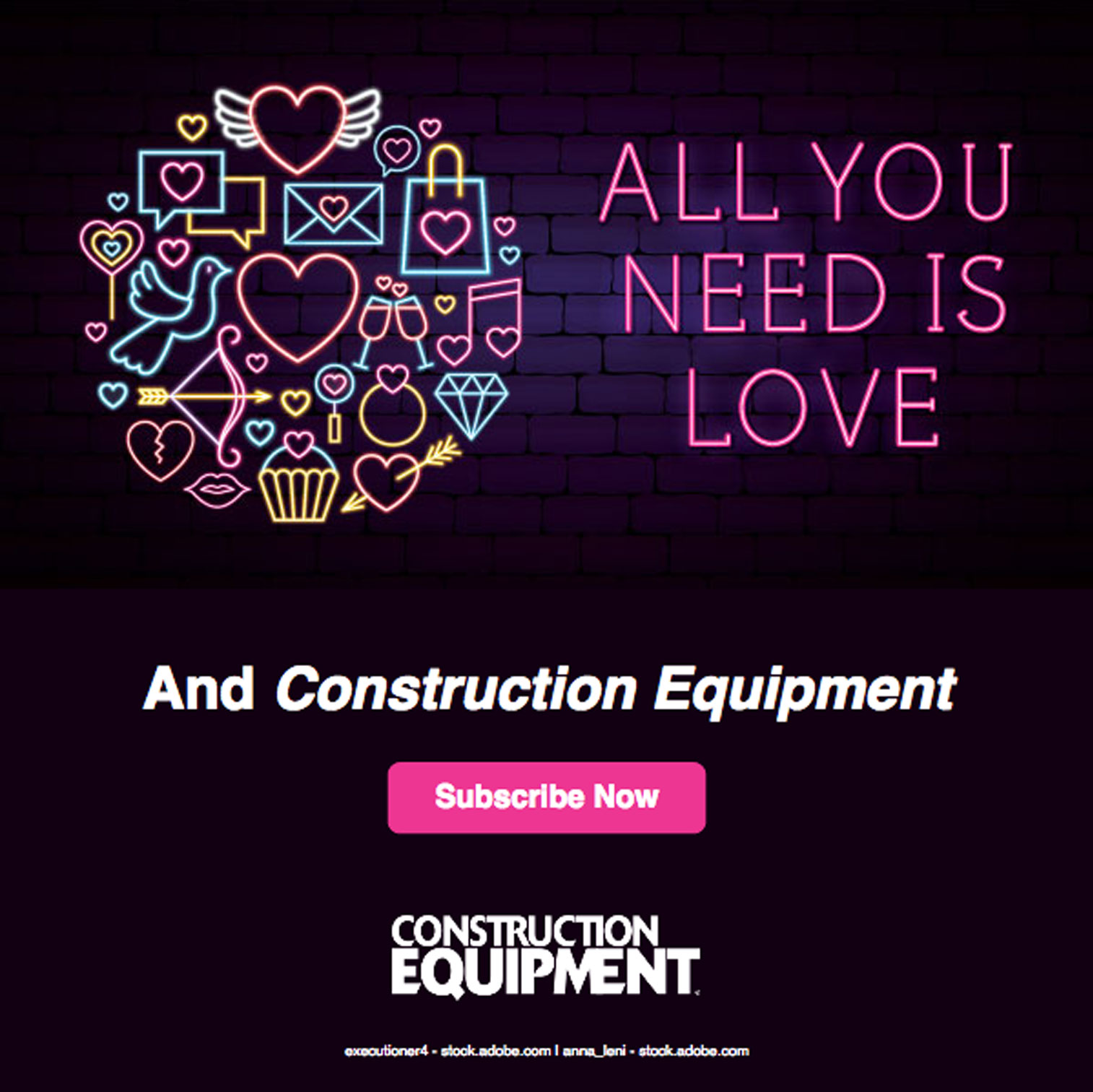 Construction Equipment Subscription Email